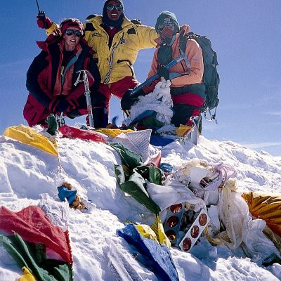 It's All About_Cathy ODowd (left) on Everest summit 29 May 1999 1st woman to climb it from both sides
