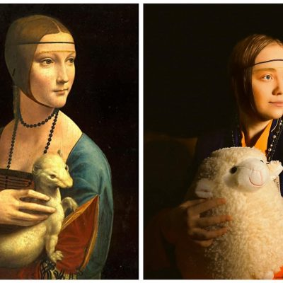 Classics Reimagined_Lady with an Ermine_Da Vinci